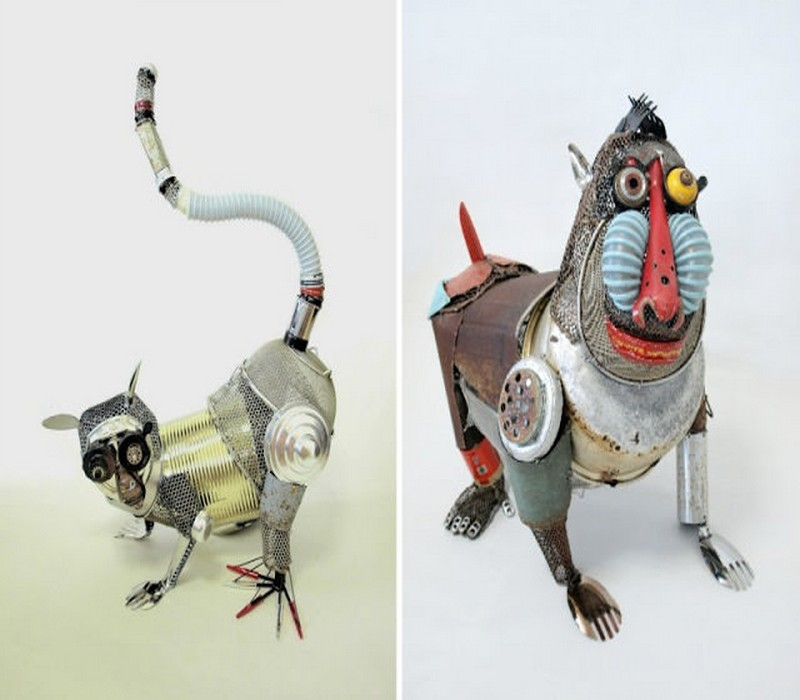 Recycled Material Animals