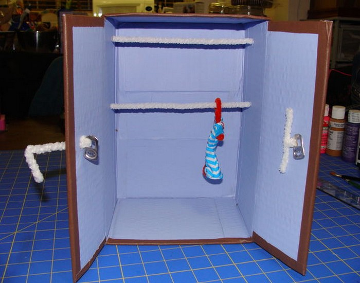Recycled Material Doll Closet