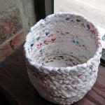Recycled Nylon Bags to Handmade Basket
