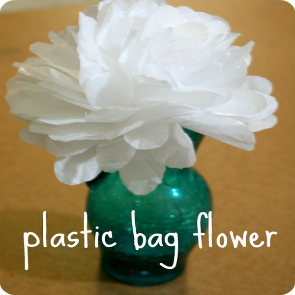 Recycled Plastic Bags Flower
