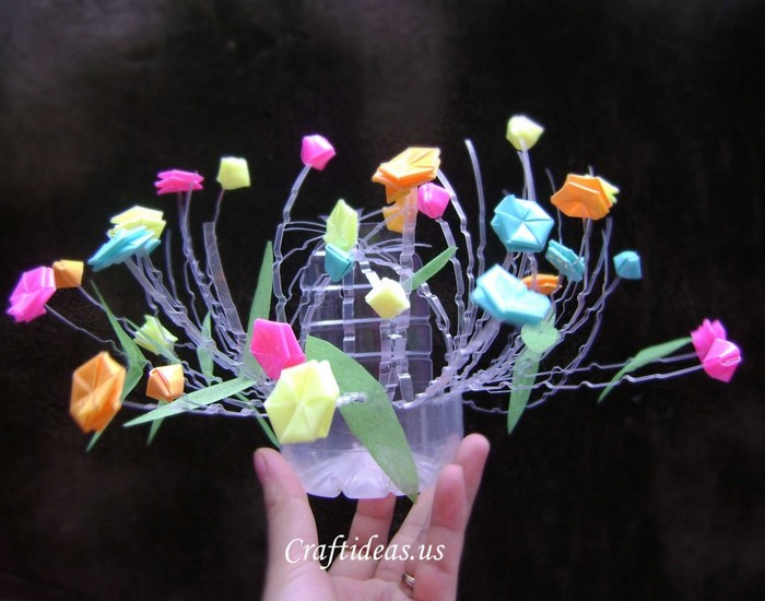Recycled Plastic Bottle Decoration Piece