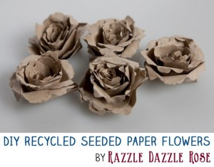 DIY Project Make Excellent Handmade Recycled Seeded Paper Flowers
