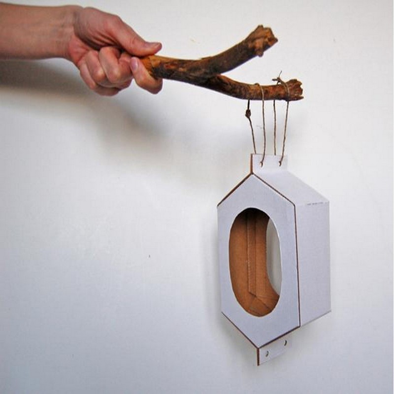 Recycling Cardboard for bird feeders