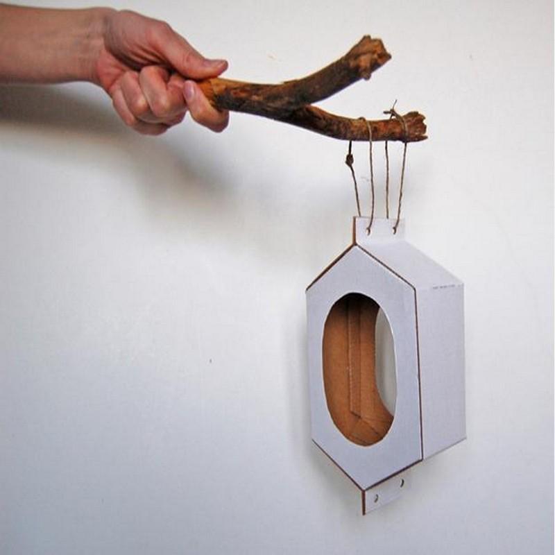 Recycling Cardboard for bird feeders