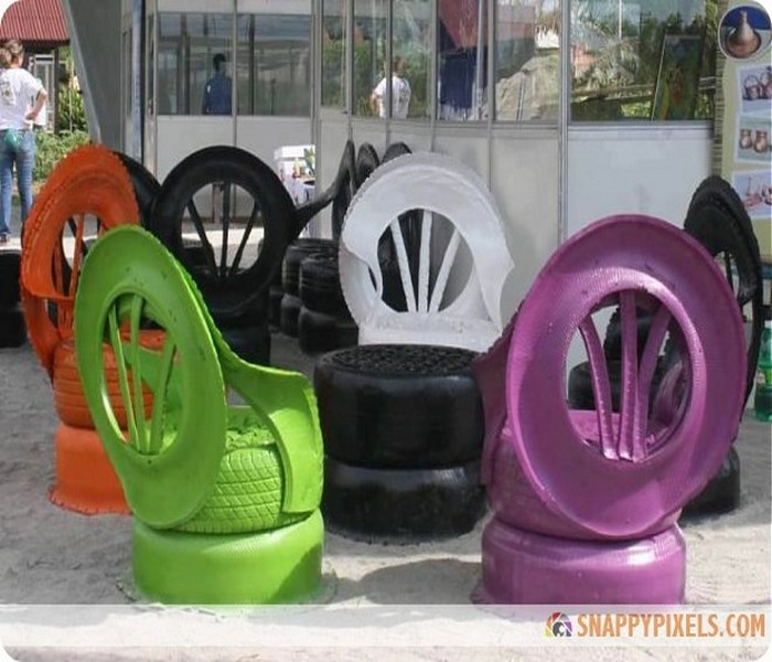 DIY Old Tires Chairs