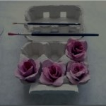 DIY Recycled Egg Carton Pink Rose