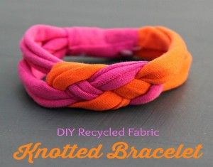 DIY Recycled Fabrics Bracelet Ideas