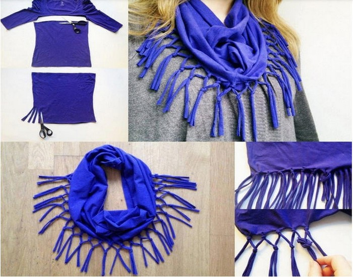 DIY Scarves Ideas Recycled Old T shirts amp Sweaters
