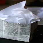 DIY Recycled Newspaper Gift Bags