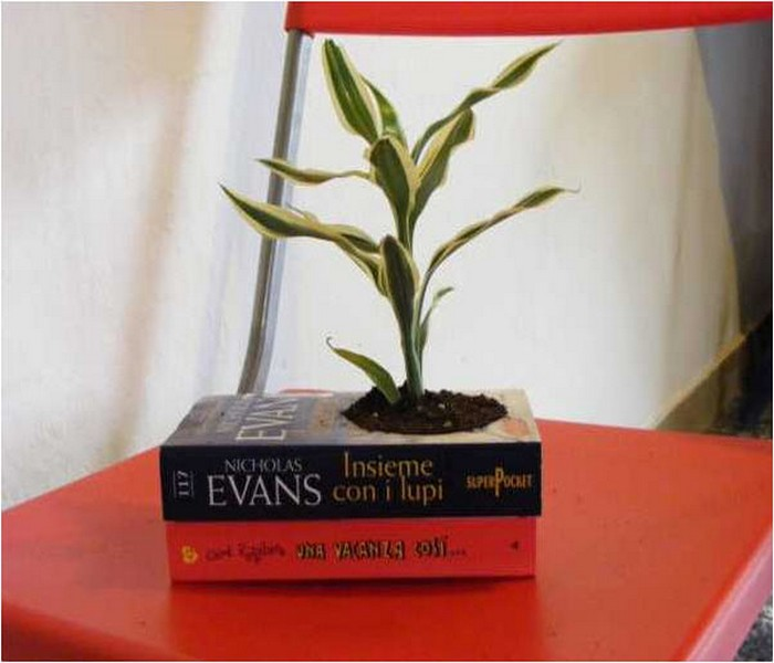 Innovative idea recycling paper for handmade planters for How to reuse old books