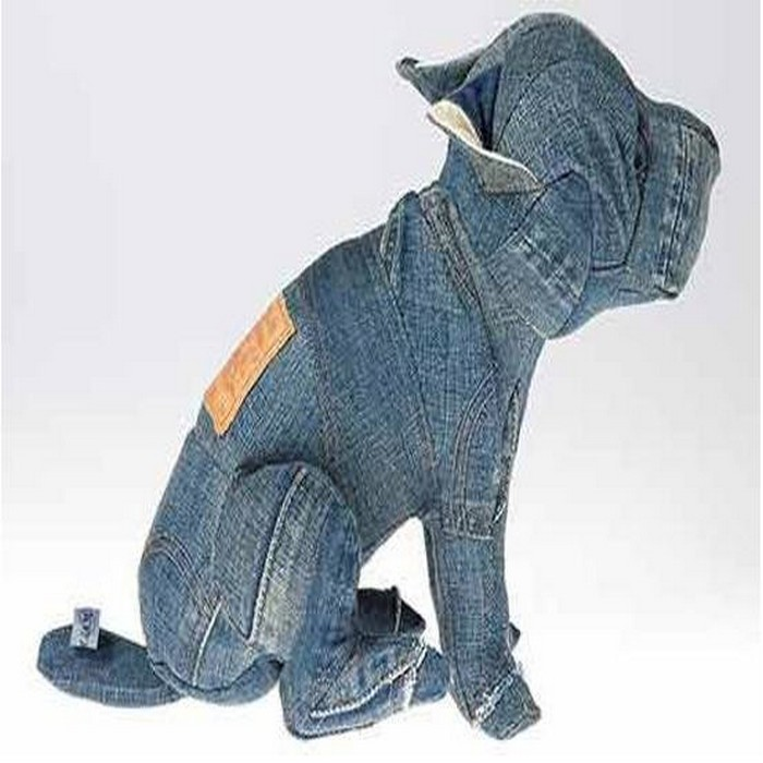 Recycle Old Blue Jeans Kids Toys Dog