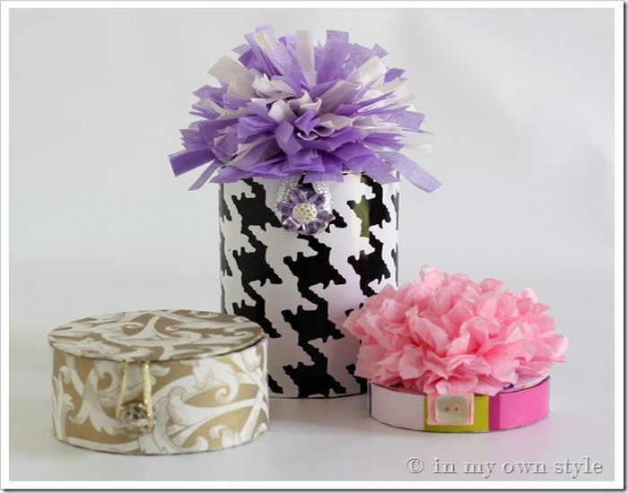 Recycle Ribbon Spools into Beautiful Gift Boxes