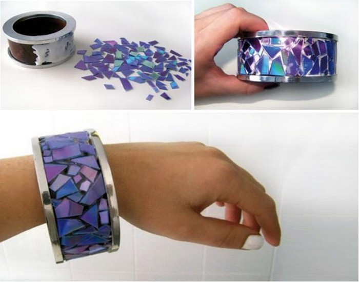 Recycled CDs Beautiful Bracelet