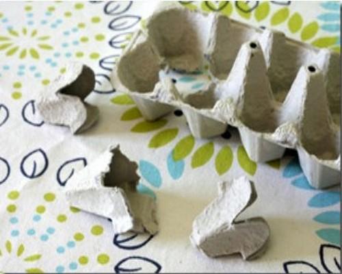 Recycled Egg Carton Pieces