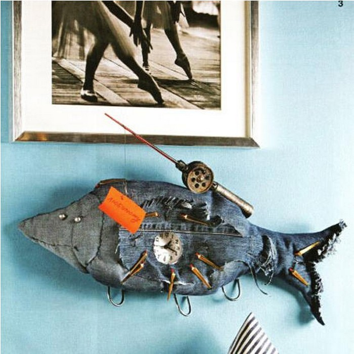 Recycled Old Blue Jeans Kids Toys Fish