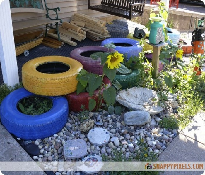 Recycled Tires Gardening Ideas