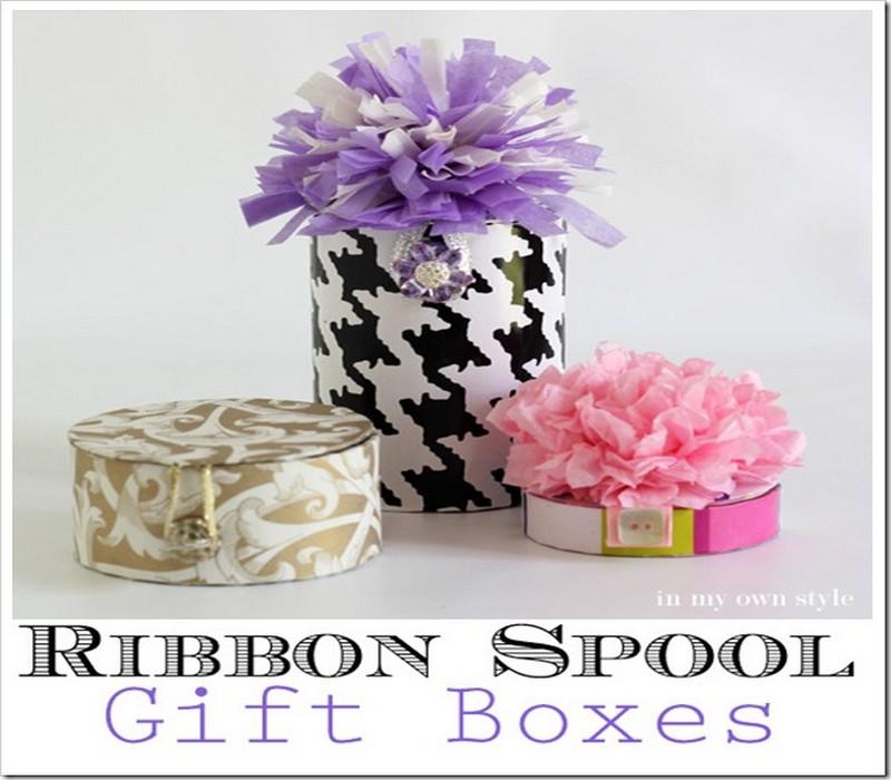 Ribbon Spool Gift Box Idea