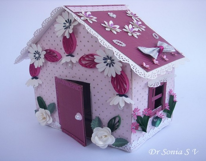 Innovative idea diy recycled cardboard doll house for Innovative craft ideas from waste