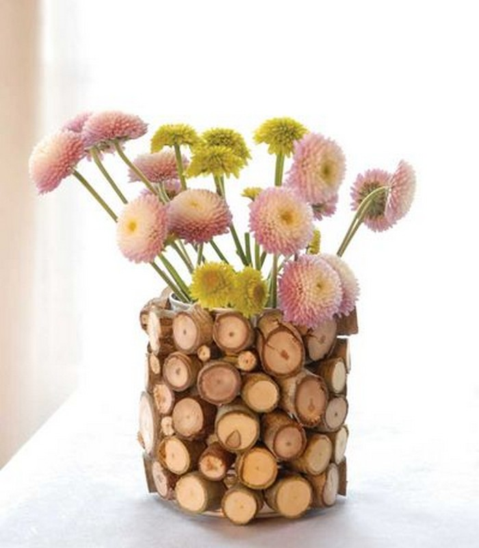 Reclaimed Wood Flower Vase