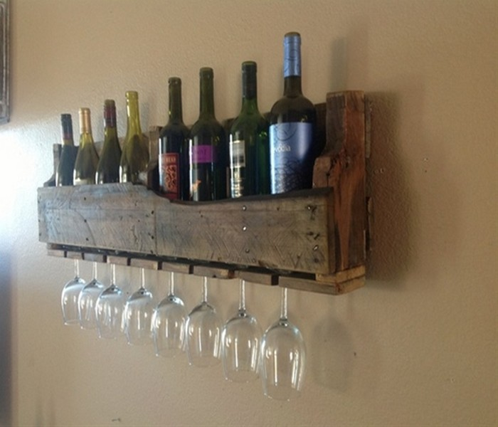 Reclaimed Wood Pieces Wine Racks