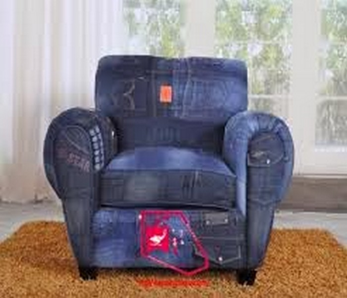 Repurposed reuse old jeans crafts ideas recycled things for Creative reclaimed denim sofa covers