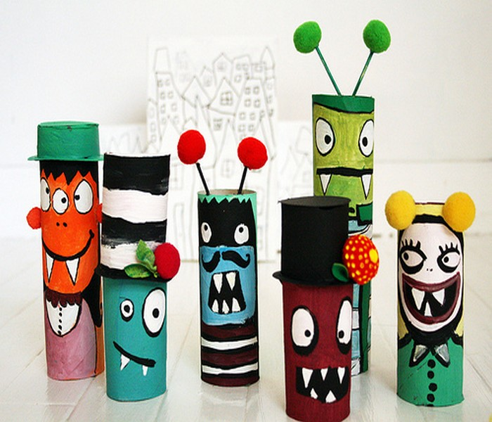 Recycled toilet paper rolls kids toys recycled things for Recycle toilet paper rolls crafts