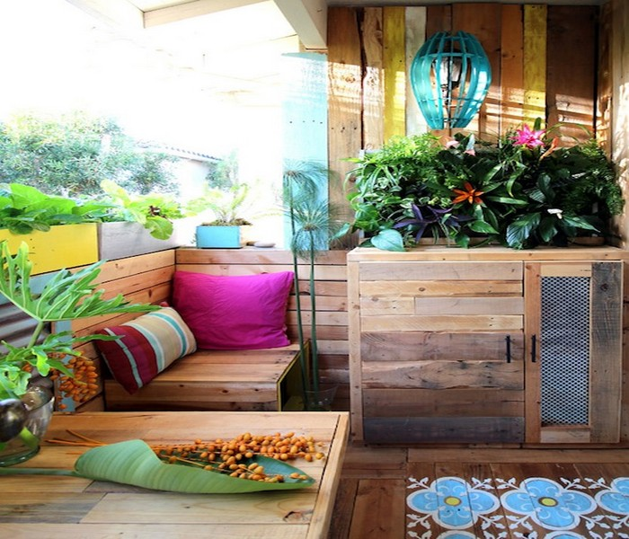 diy upcycled pallet patio decor idea recycled things