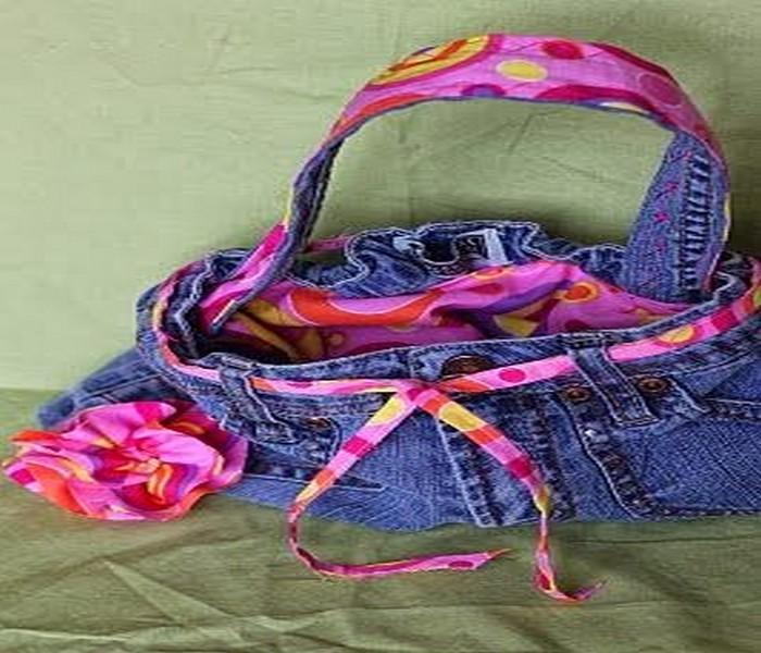 Reuse Old Jeans bag Idea
