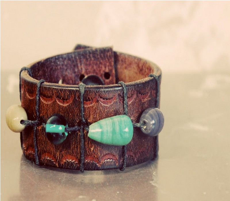 Upcycled Belt Awesome Bracelet Idea