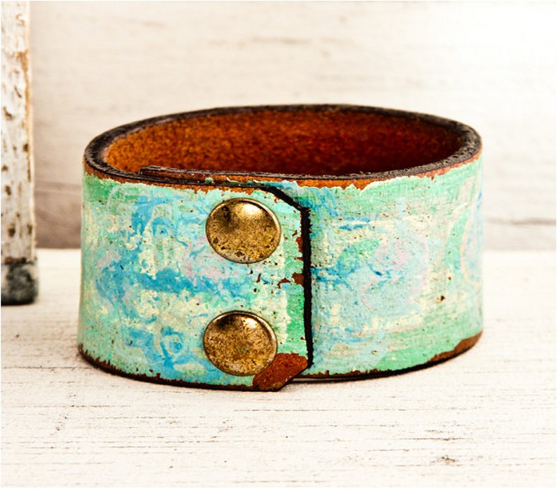 Upcycled Belt Bracelet