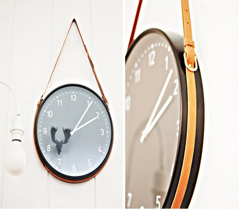 Upcycled Belt Wall Clock Idea