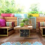 Upcycled Furniture Patio Decor Idea