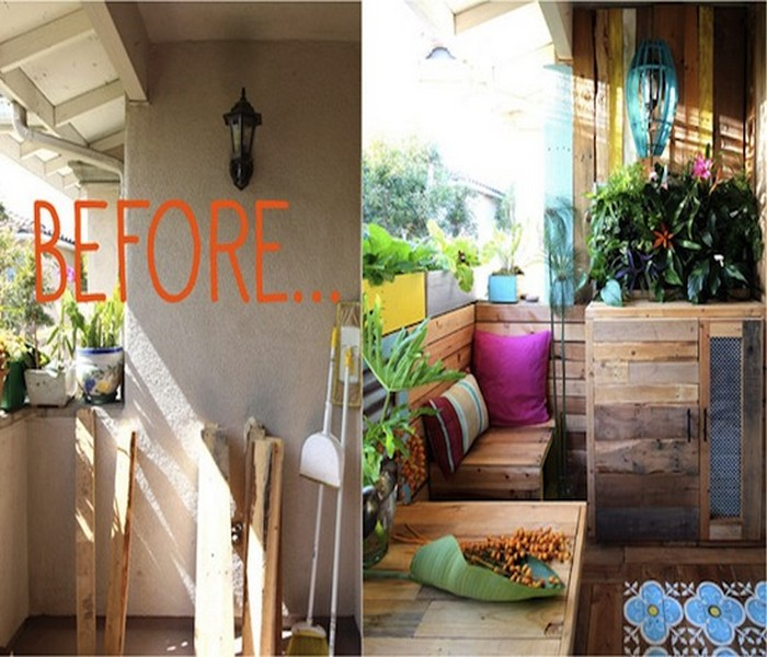 Upcycled Pallet Patio Decor Idea