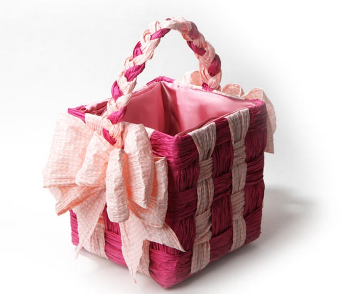 Upcycled Paper Twist Basket