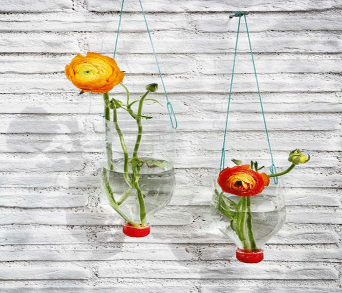 Upcycled Plastic Bottles Flower Hanging