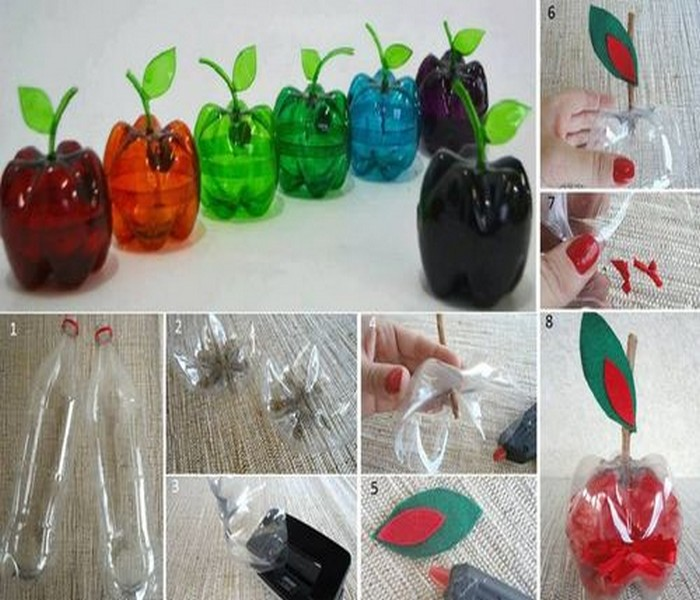 Upcycled Plastic Bottles Home Decor Idea