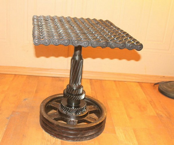 Recycled Automotive Parts Table