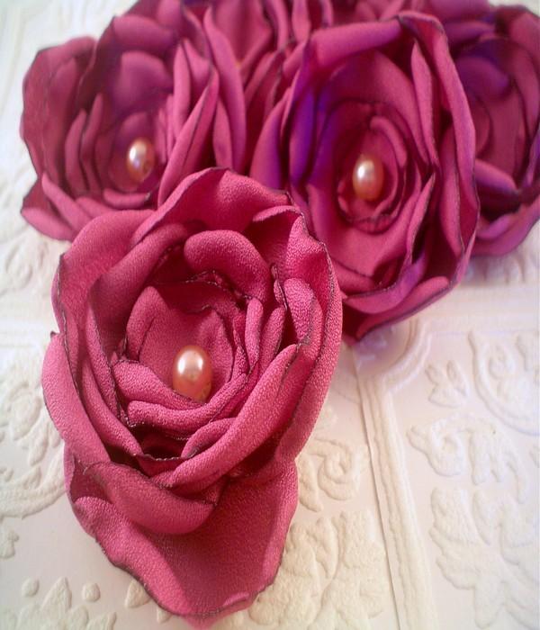 Recycled Fabrics Beautiful Flowers