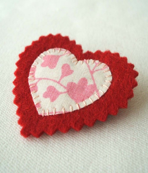 Reuse Fabrics DIY Heart
