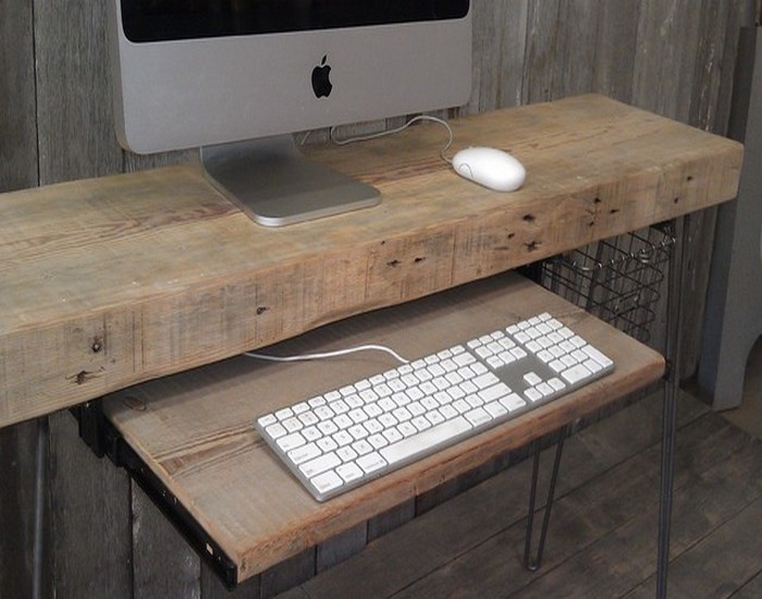Exceptionnel Reclaimed Wooden Desk For Home And Office