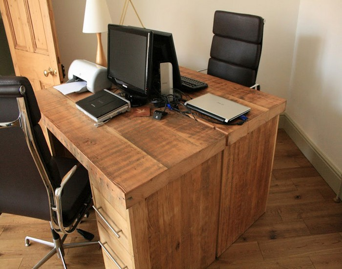 Office Desks With Drawers Interesting 60 Wood Home Office Desk Decorating Design Of Simple