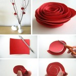 Innovative Red Rose Made from Recycled Paper