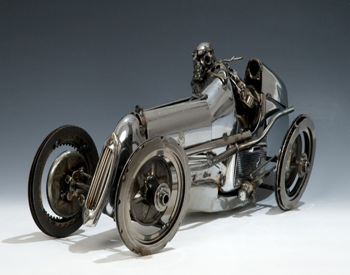 Recycled Automotive Parts Car
