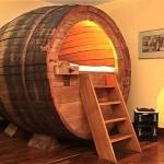 Recycled Wooden Beer Barrel Bedroom