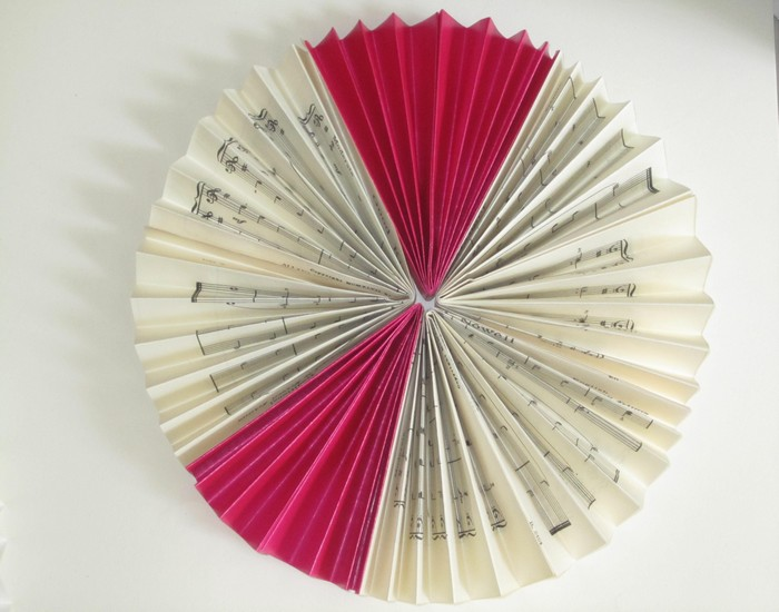 Reuse Paper Pleated Circle