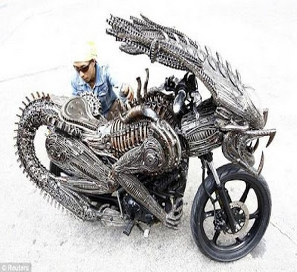 Upcycled Auto Parts Kids Motorbike