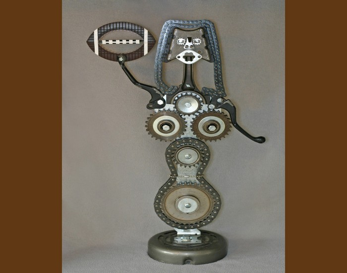Upcycled Car Parts Trophy