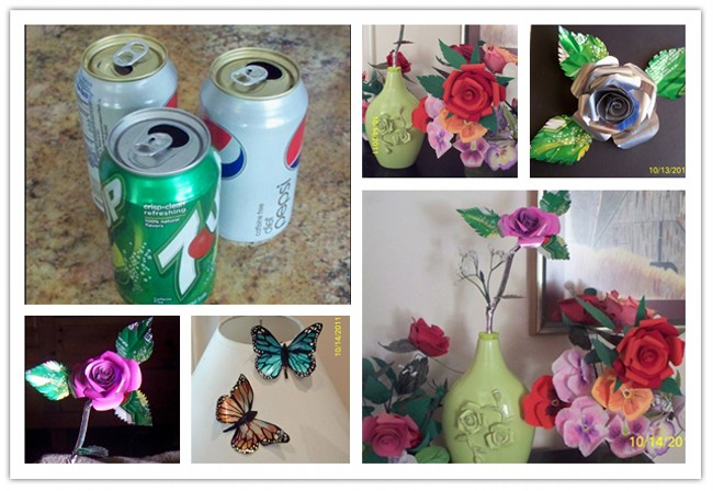 Diy creative decorations from recycled tin cans recycled for Things made out of tin cans