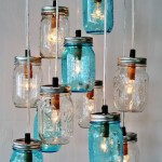 DIY Mason Jars into Beautiful Chandelier