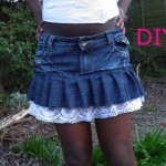 DIY Old Denim Jeans into Fashionable Skirts
